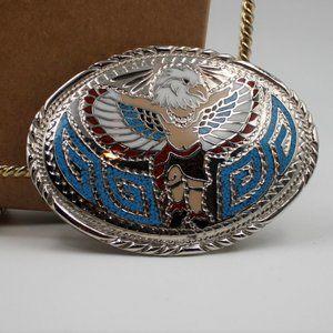 Native American Style Eagle Headdress Belt Buckle